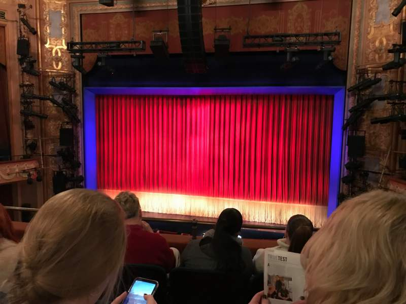 Seating view for Longacre Theatre Section Mezzanine Row D Seat 101