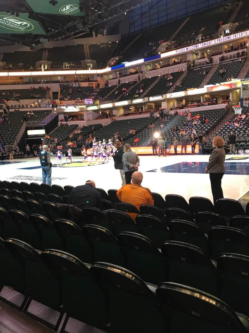 Seating view for Bankers Life Fieldhouse Section 15 Row 7 Seat 1