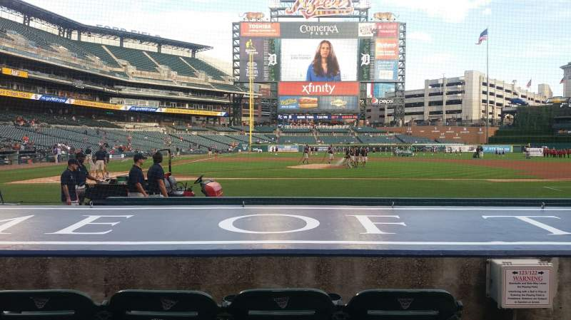 Seating view for Comerica Park Section 123 Row 10 Seat 2