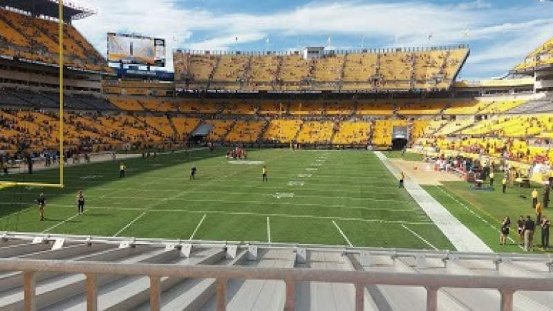 Seating view for Heinz Field Section C150 Row A Seat 3