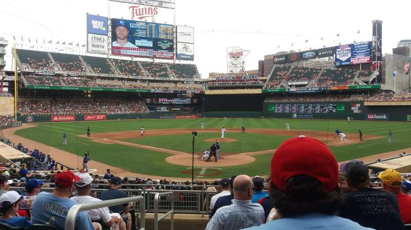 Seating view for Target Field Section 113 Row 8 Seat 8