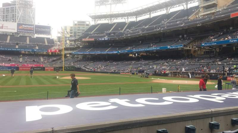 Seating view for Petco Park Section FV108 Row 10 Seat 23