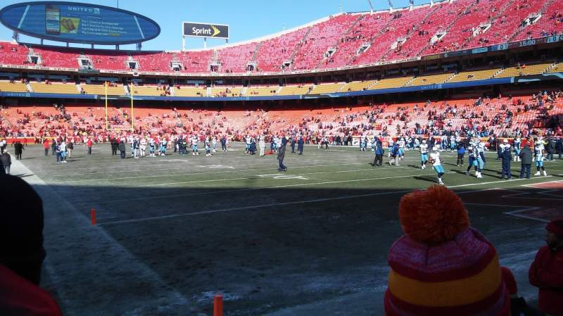 Seating view for Arrowhead Stadium Section 113 Row 2 Seat 6