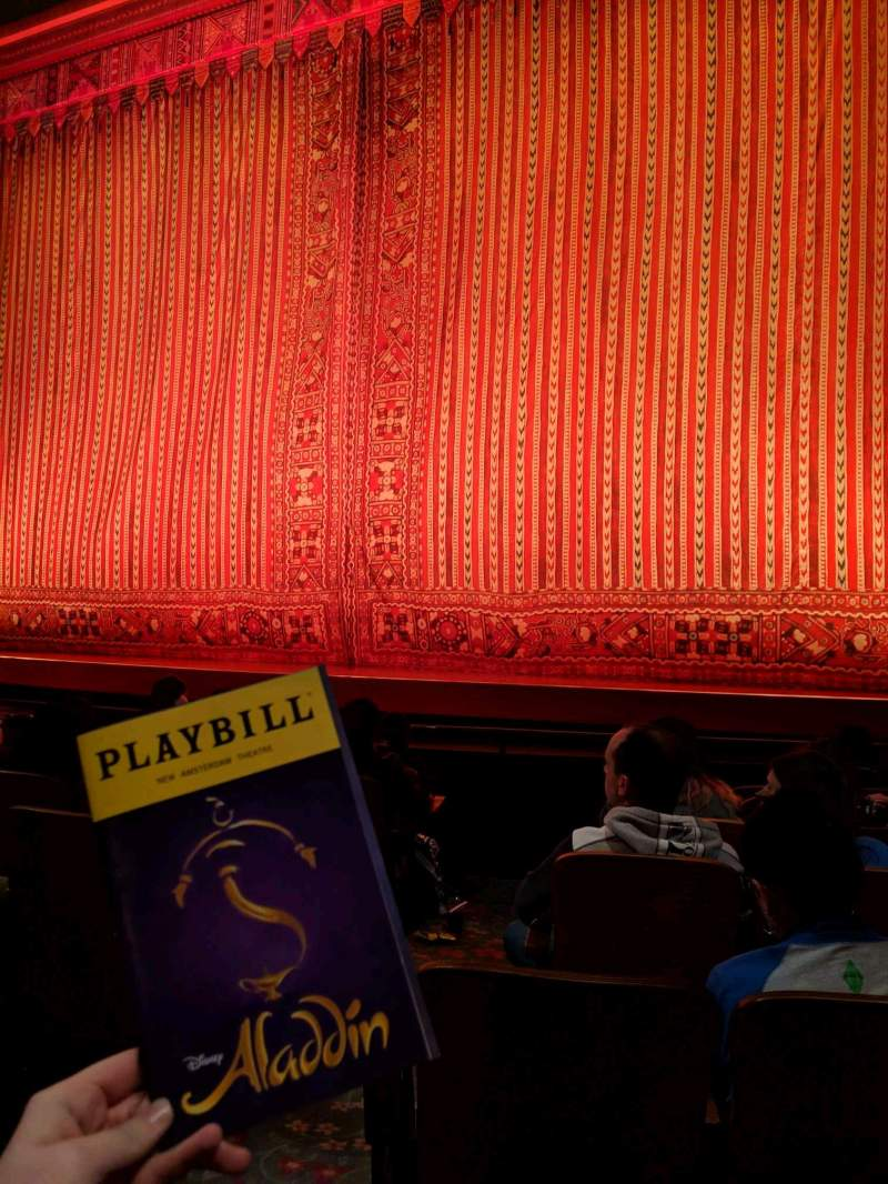 Seating view for New Amsterdam Theatre Section Orchestra R Row G Seat 4