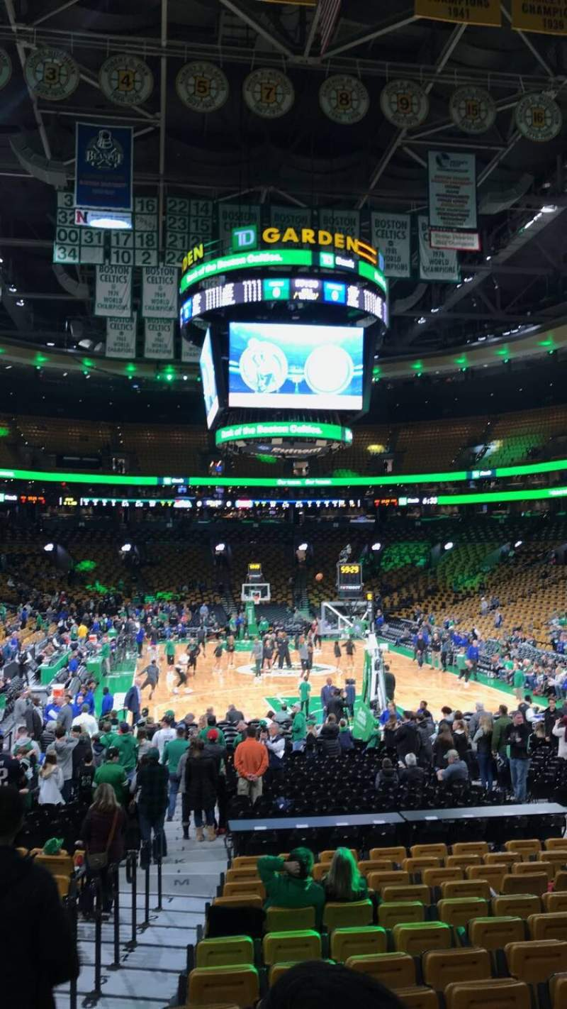 Seating view for TD Garden Section Loge 18 Row 14 Seat 13