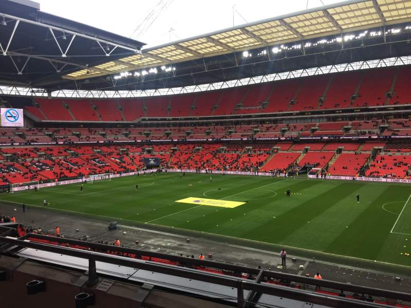 Seating view for Wembley Stadium Section 223 Row 3 Seat 227