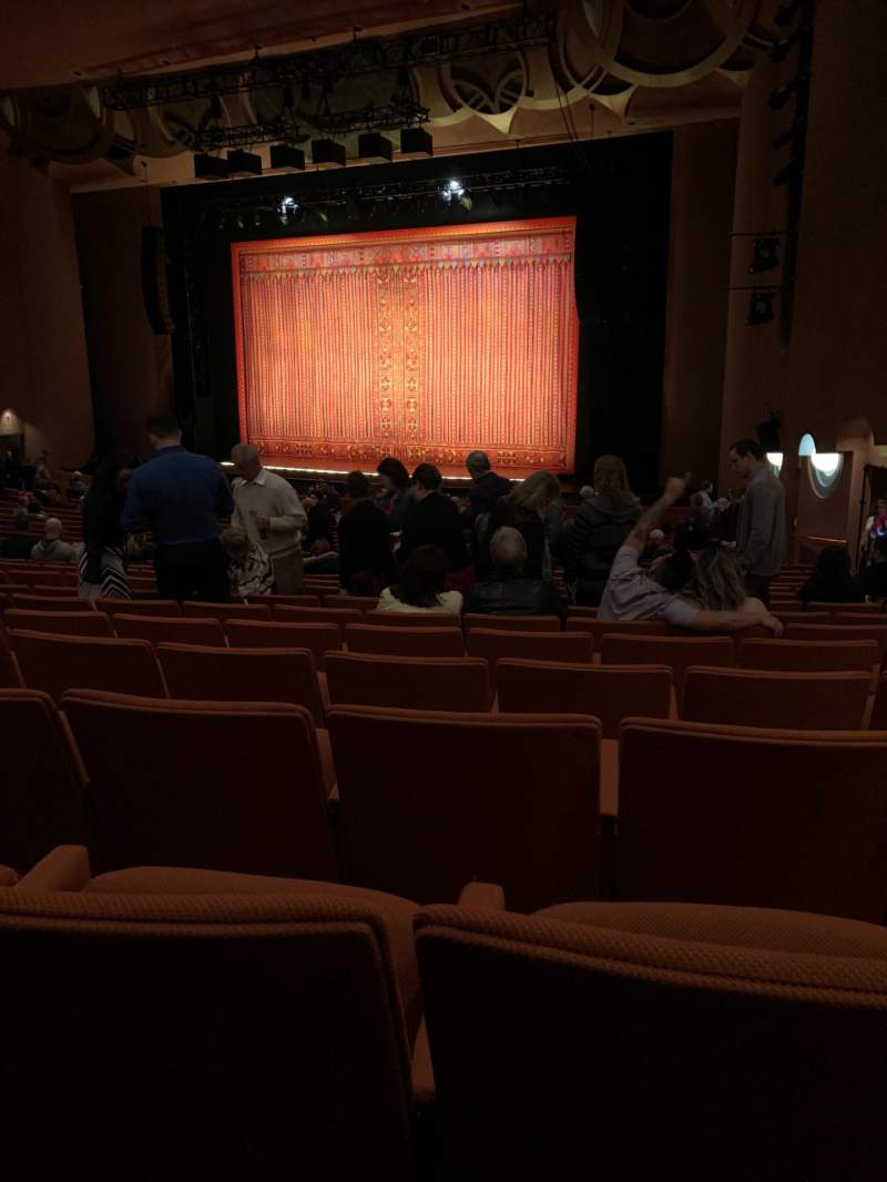 Seating view for ASU Gammage Section ORCHB2 Row 22 Seat 58 and 60