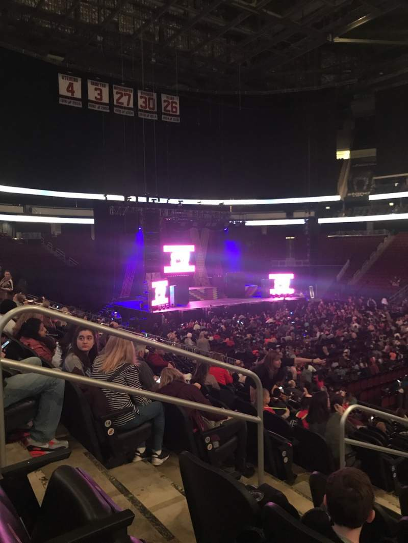 Seating view for Prudential Center Section 20 Row 16 Seat 15