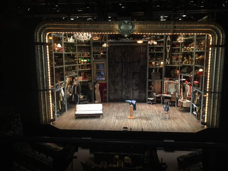 Seating view for Laura Pels Theatre Section Mezzanine Prime Row BB Seat 107
