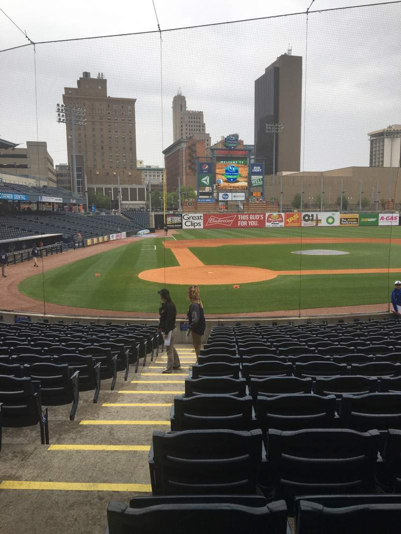 Seating view for Fifth Third Field Section 113 Row S Seat 18