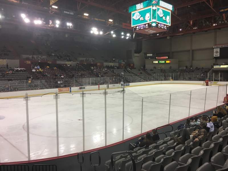 Seating view for Sullivan Arena Section 119 Row 12 Seat 2