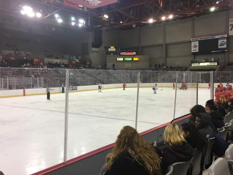 Seating view for Sullivan Arena Section 115 Row 8 Seat 12