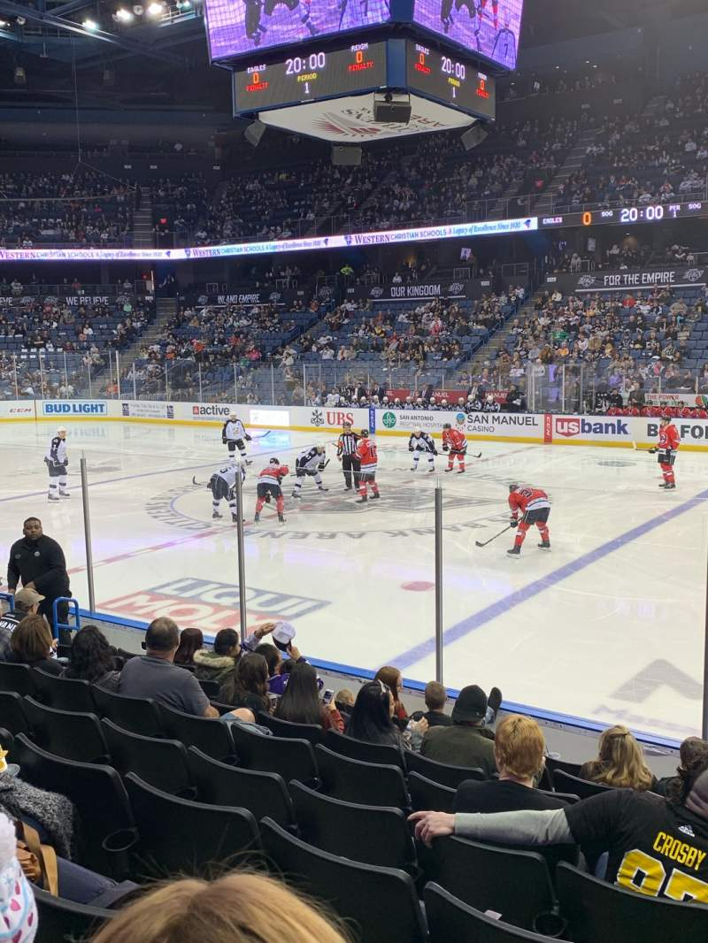 Seating view for Toyota Arena Section 103 Row I