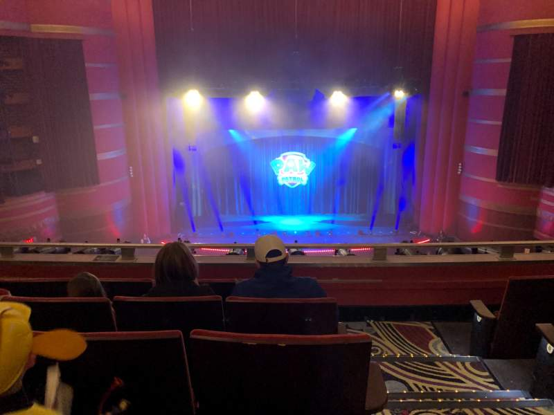 Seating view for Kansas City Music Hall Section Balcony LC Row E Seat 1