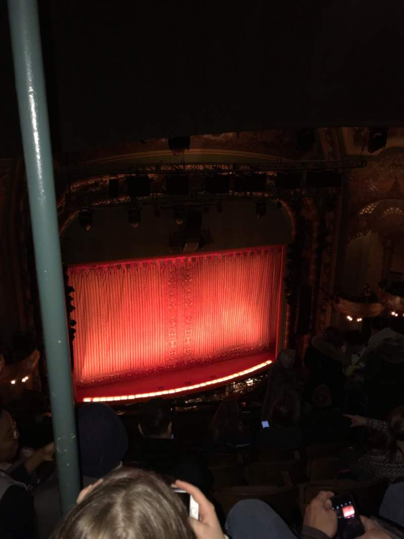 Seating view for New Amsterdam Theatre Section Balcony L Row G Seat 11