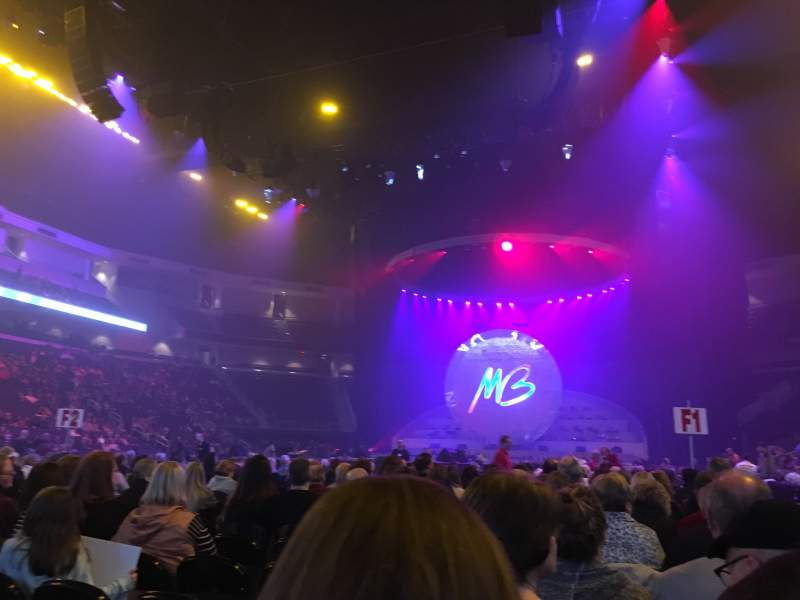 Seating view for infinite energy arena Section FL04 Row Q Seat 1