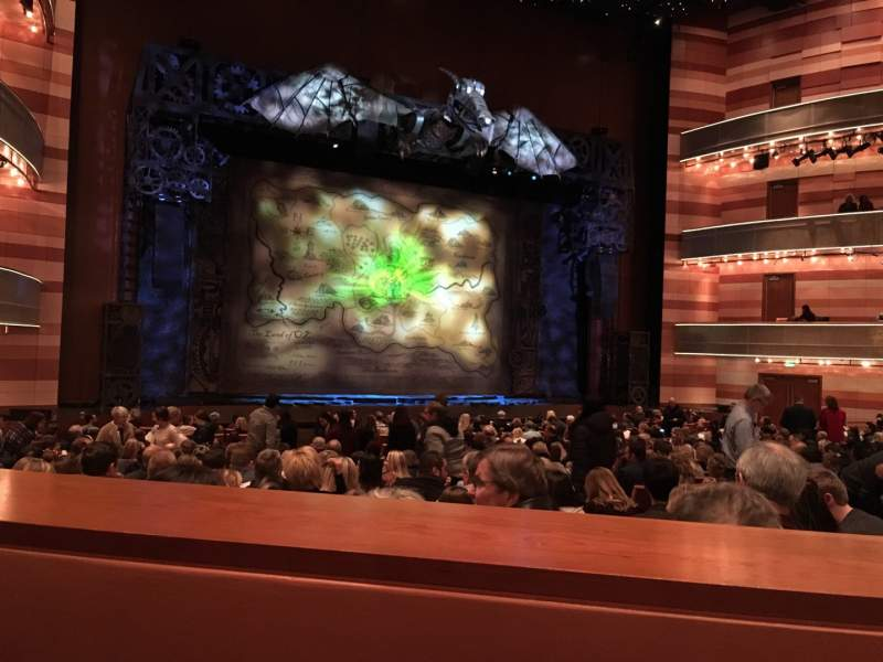 Seating view for Eccles Theater Section Orchestra L Row SS Seat 116