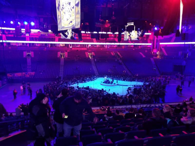 Seating view for Bridgestone Arena Section 105 Row N Seat 15
