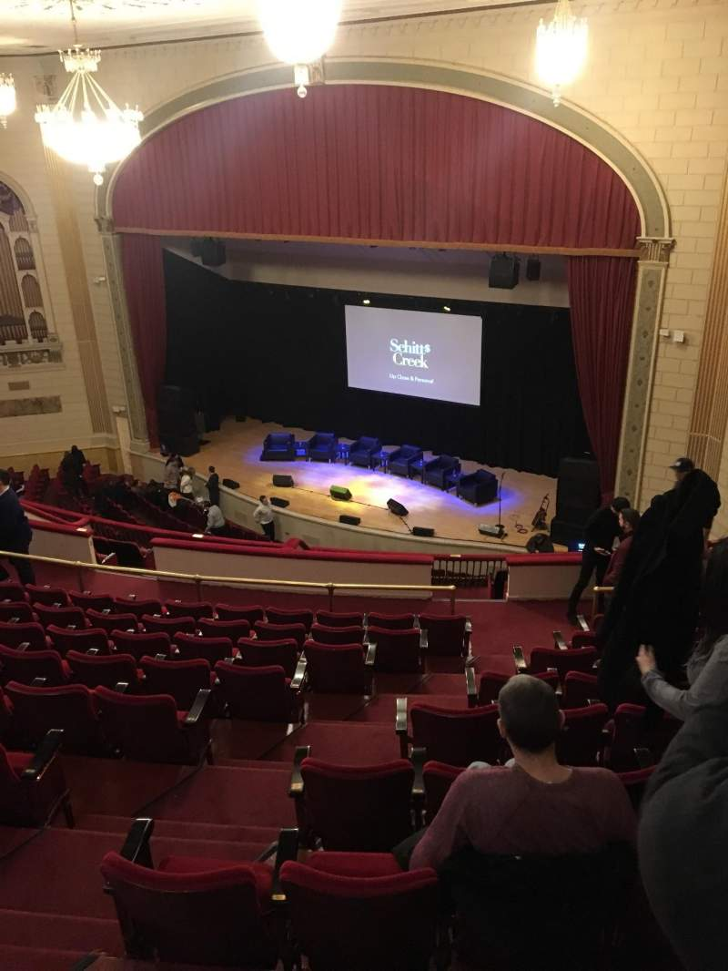 Seating view for The Town Hall Section Balcony Row K Seat 34