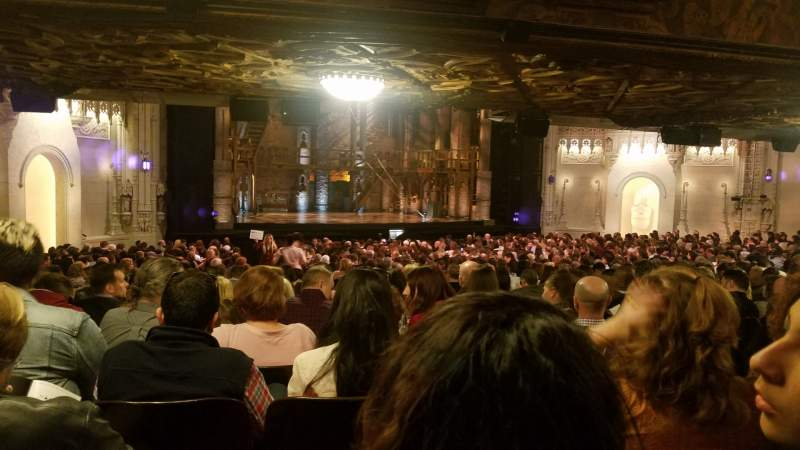 Seating view for Orpheum Theatre (San Francisco) Section Orchestra Row EE Seat 13