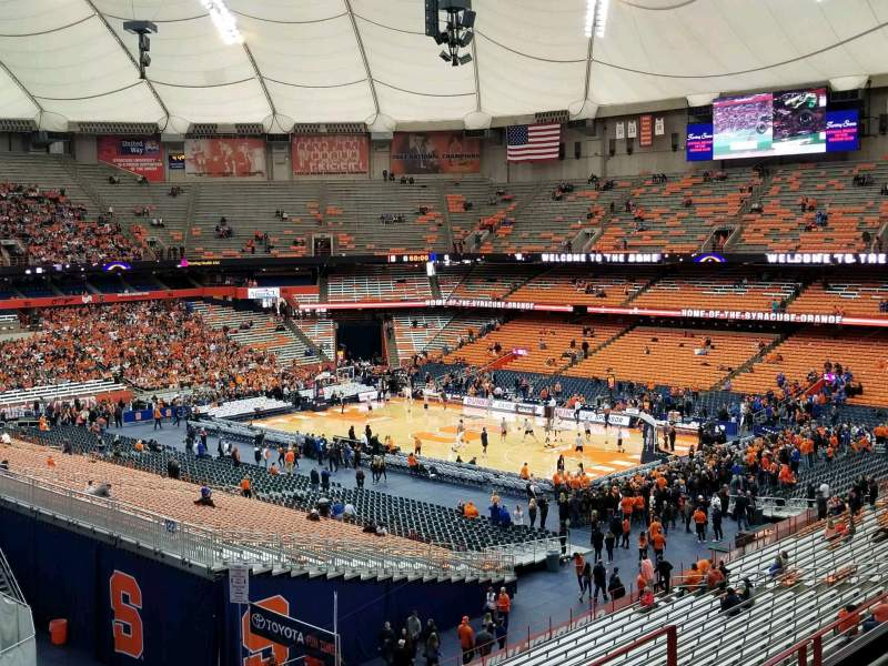 Seating view for Carrier Dome Section 320 Row E Seat 6