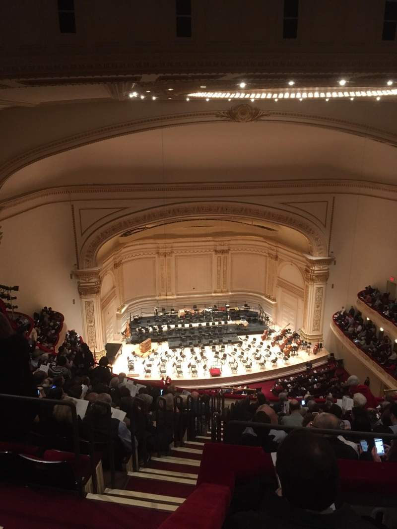 Seating view for Carnegie Hall Section Upper Balcony LC Row N Seat 13