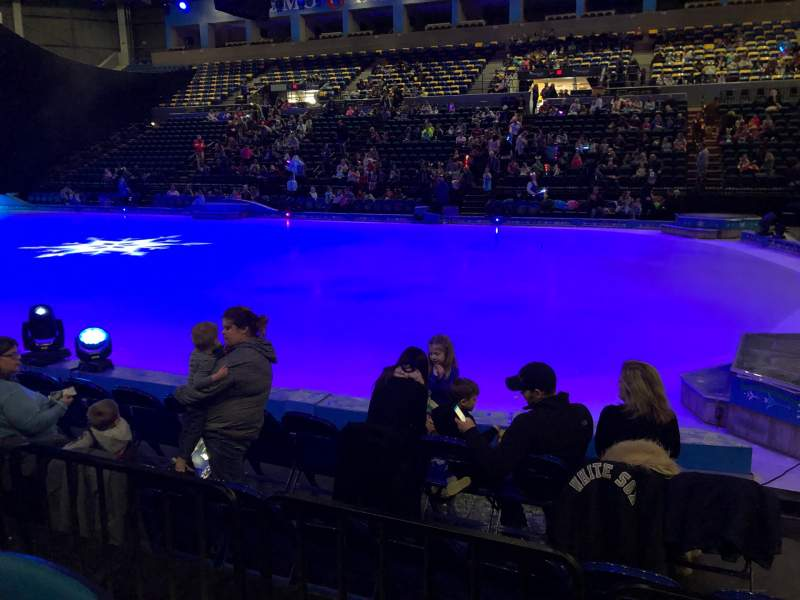 Seating view for BMO Harris Bank Center Section 119 Row D Seat 2