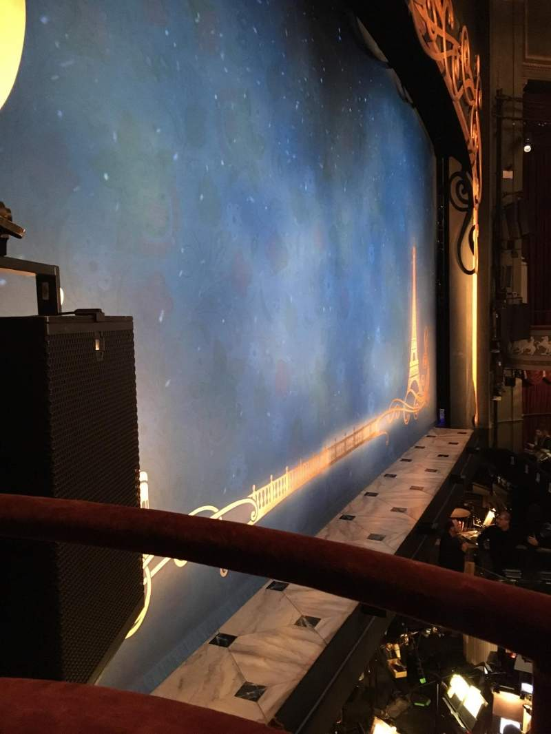 Seating view for Broadhurst Theatre Section Left Boxes Row A Seat 1,2
