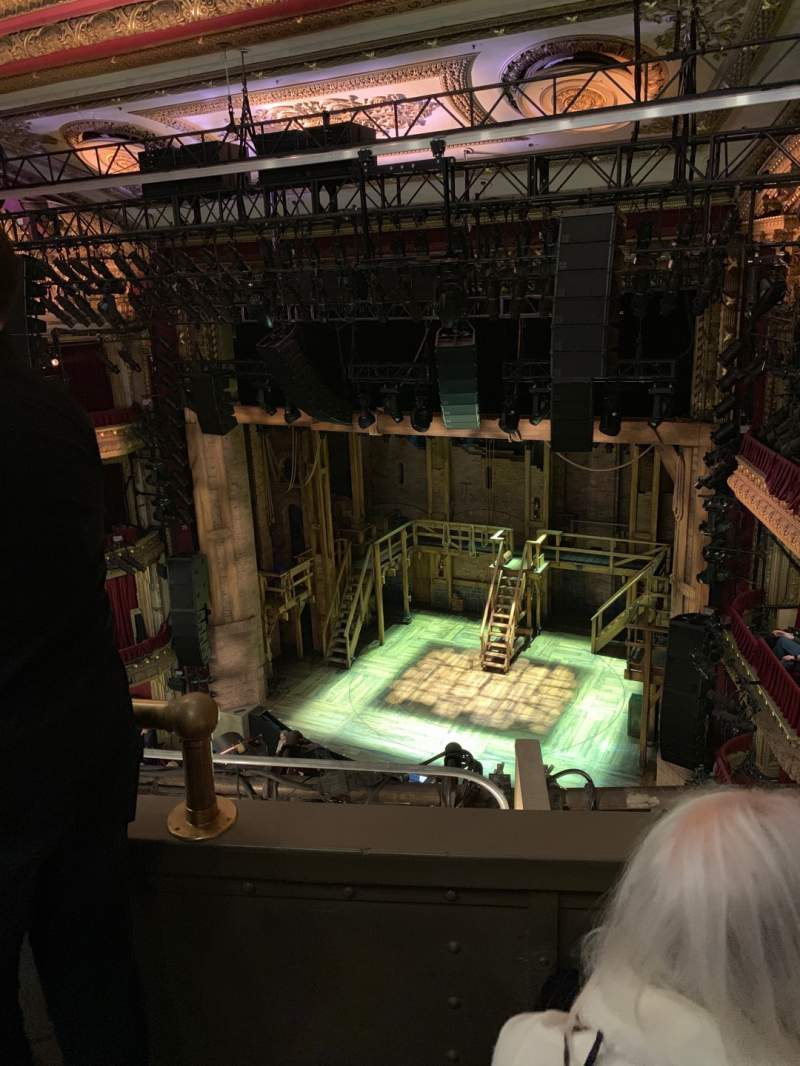 Seating view for CIBC Theatre Section Balcony R Row B Seat 4