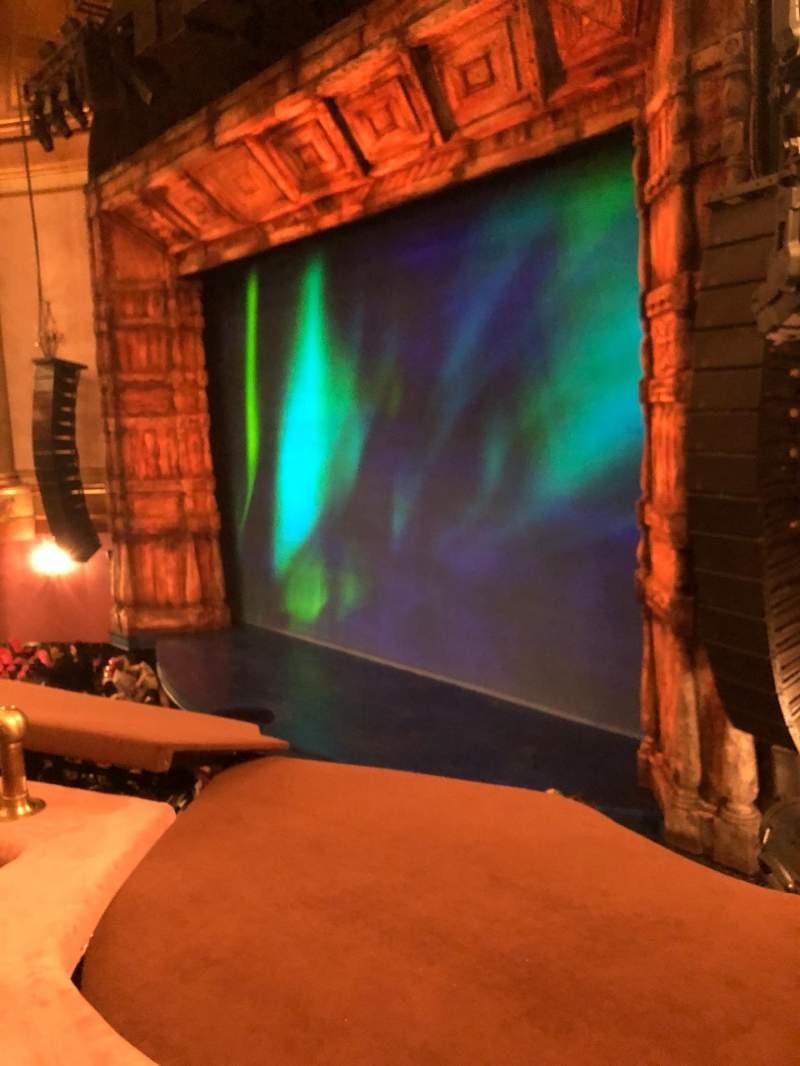 Seating view for St. James Theatre Section Mezzanine R Row B Seat 30