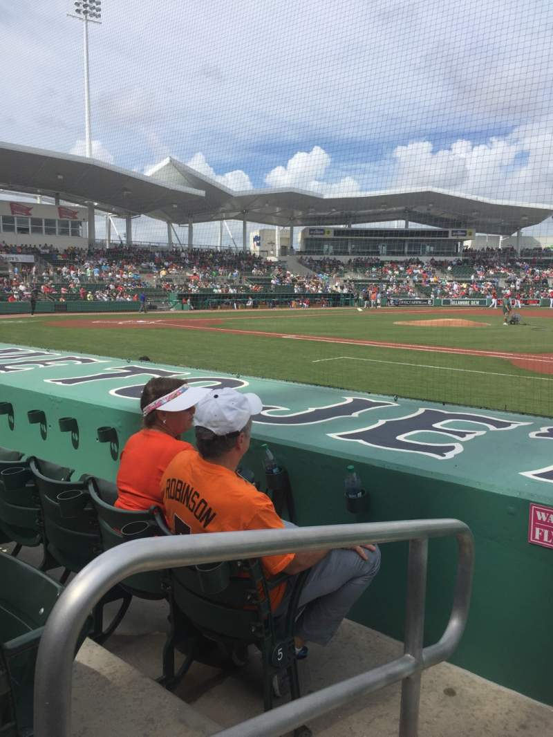 Seating view for JetBlue Park Section 109 Row 7 Seat 24