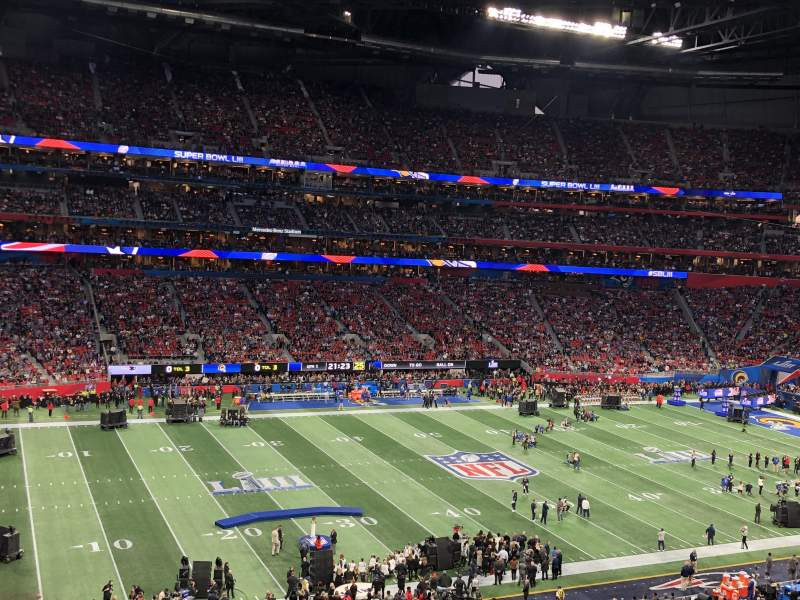 Seating view for Mercedes-Benz Stadium Section 241 Row 3