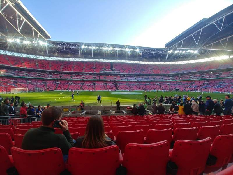 Seating view for Wembley Stadium Section 102 Row 12 Seat 62