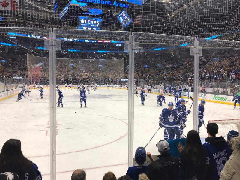 Seating view for Scotiabank Arena Section 103 Row 8 Seat 12