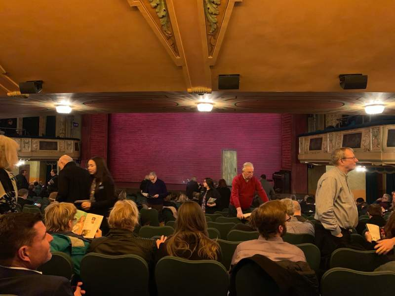 Seating view for Shubert Theatre Section Orchestra R Row T Seat 8