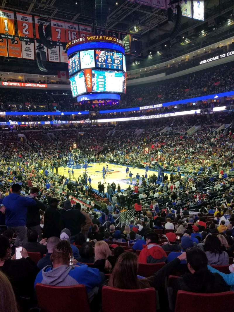 Seating view for Wells Fargo Center Section 105 Row 22 Seat 5