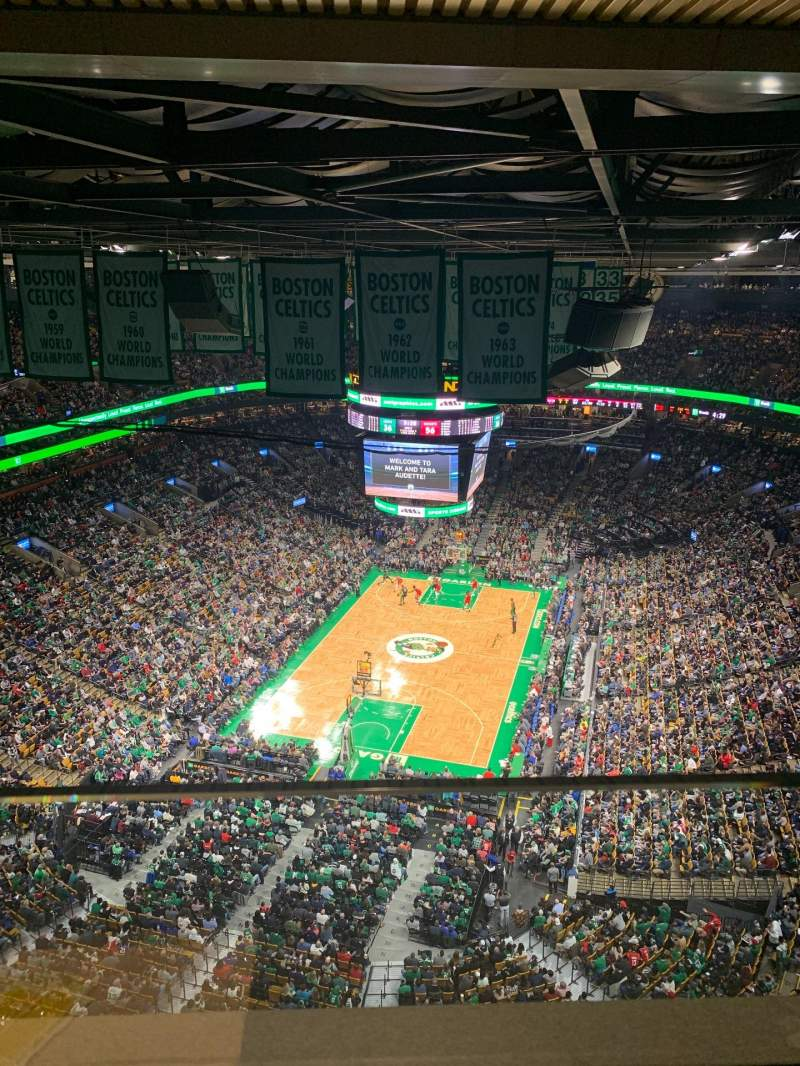 Seating view for TD Garden Section S24 Row 1 Seat 3