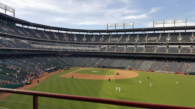 Seating view for Globe Life Park in Arlington Section 46 Row B