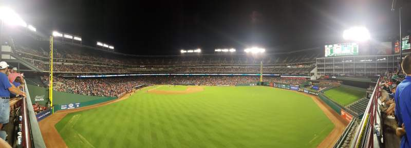 Seating view for Globe Life Park in Arlington Section 46 Row A