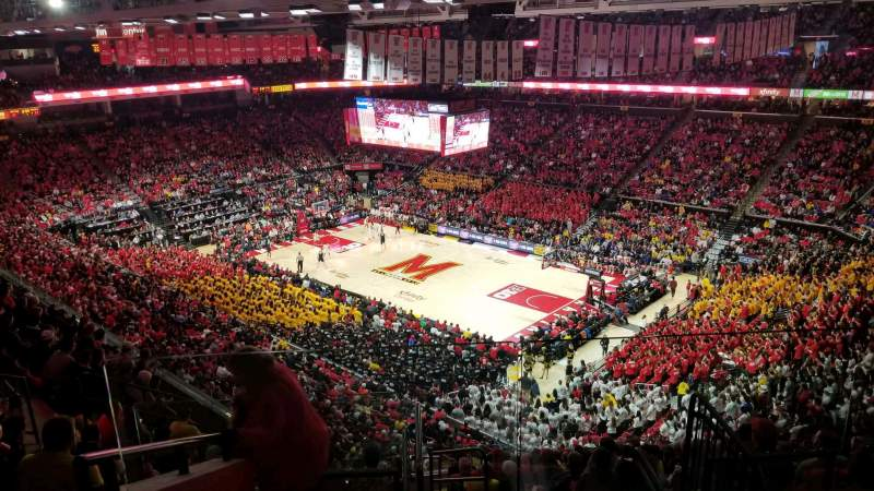 Seating view for Xfinity Center (Maryland) Section 217 Row 11 Seat 1