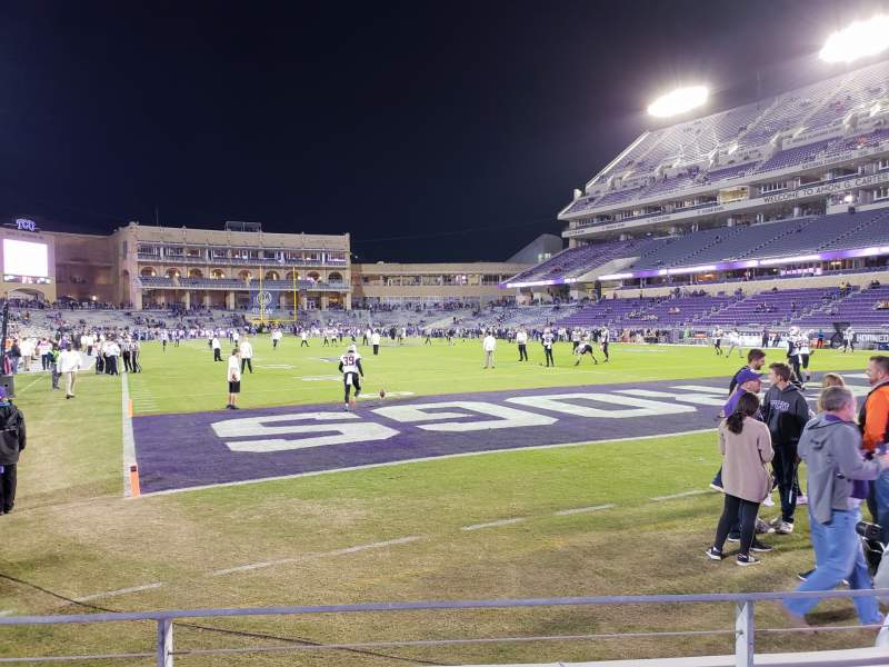 Seating view for Amon G. Carter Stadium Section 118 Row B Seat 7