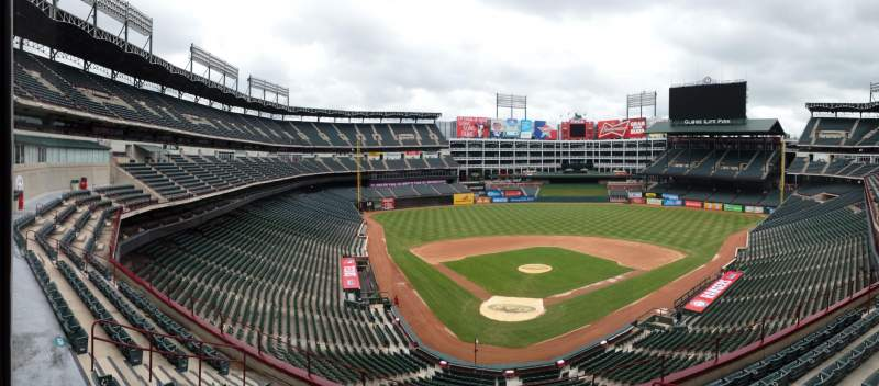 Seating view for Globe Life Park in Arlington Section 228 Row 4