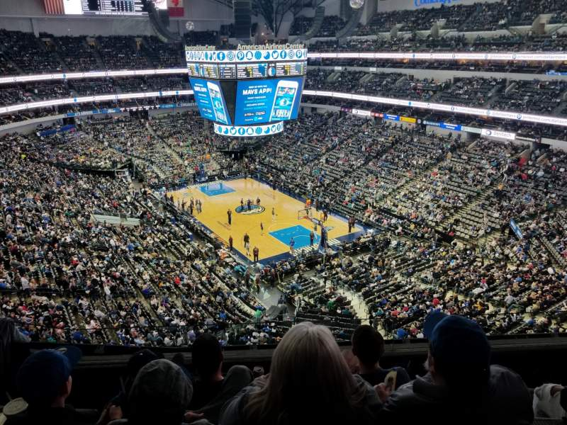 Seating view for American Airlines Center  Section 321 Row D Seat 5