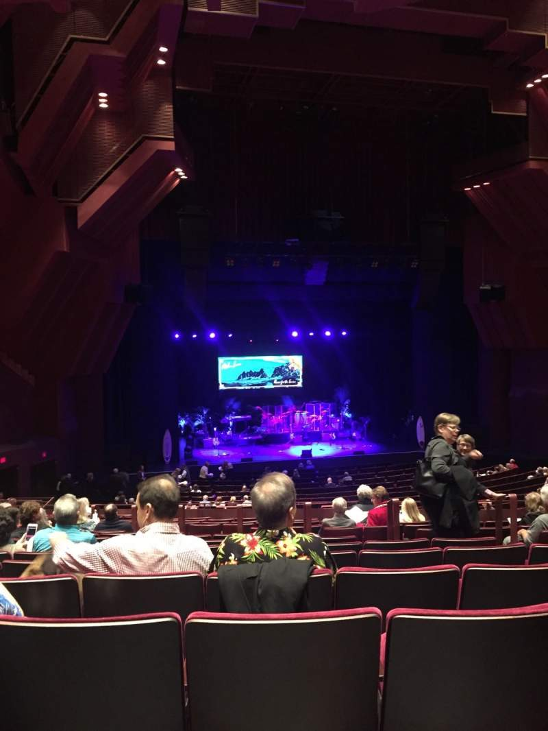 Seating view for segerstrom hall Section Orchestra Terrace Row Q Seat 113
