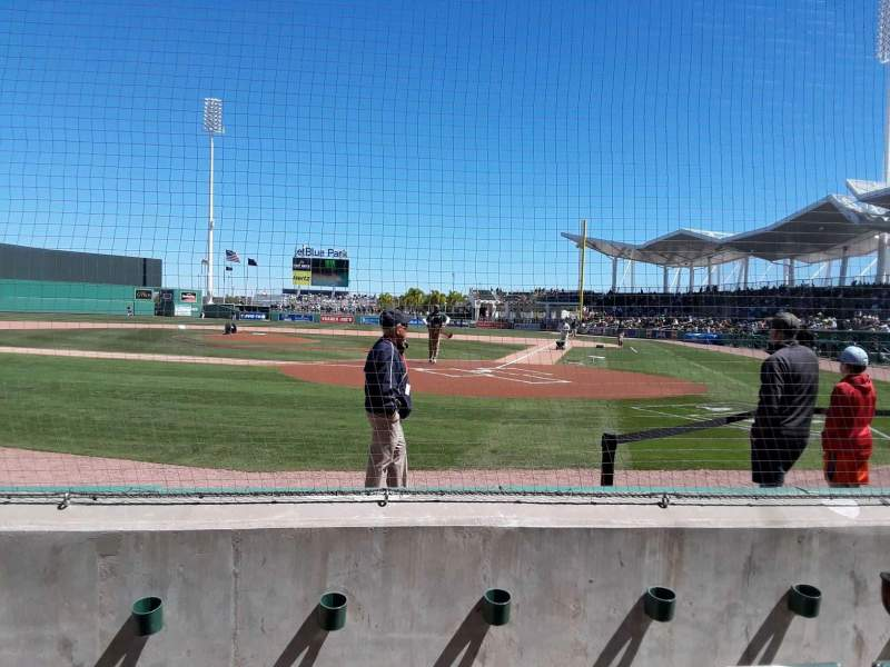 Seating view for JetBlue Park Section 104 Row 3 Seat 6