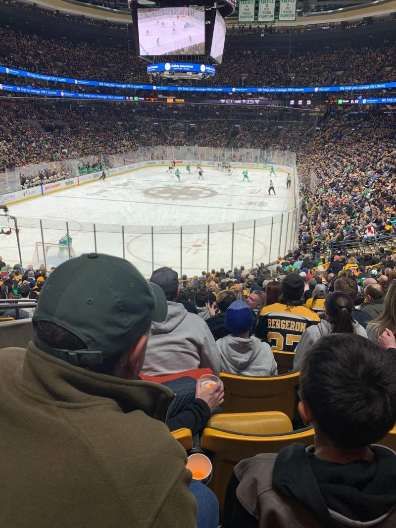 Seating view for TD Garden Section Loge 17 Row 21 Seat 8