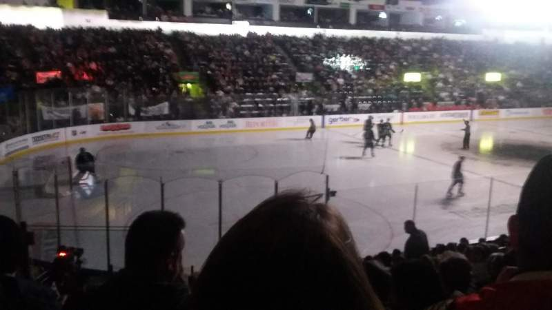 Seating view for Accesso ShoWare Center Section 113 Row 13 Seat 3