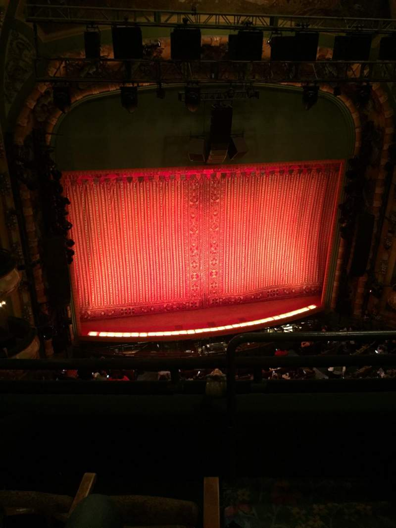 Seating view for New Amsterdam Theatre Section Balcony L Row C Seat 3
