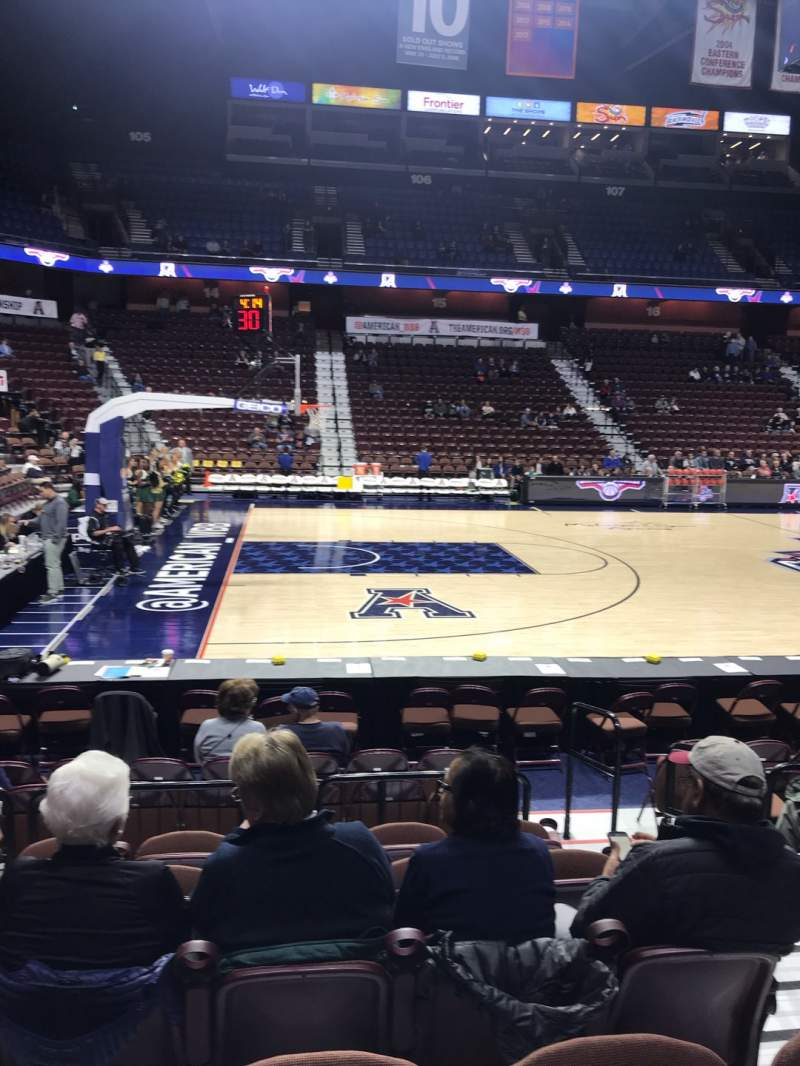Seating view for Mohegan Sun Arena Section 26 Row H Seat 3