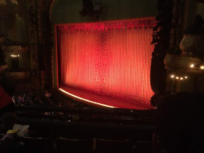 Seating view for New Amsterdam Theatre Section Mezzanine R Row DD Seat 28